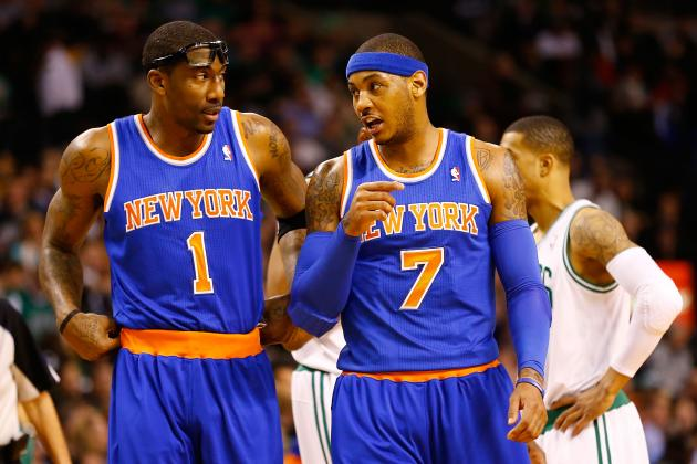 Carmelo Anthony, Amar'e Stoudemire game-time decisions vs.Jazz