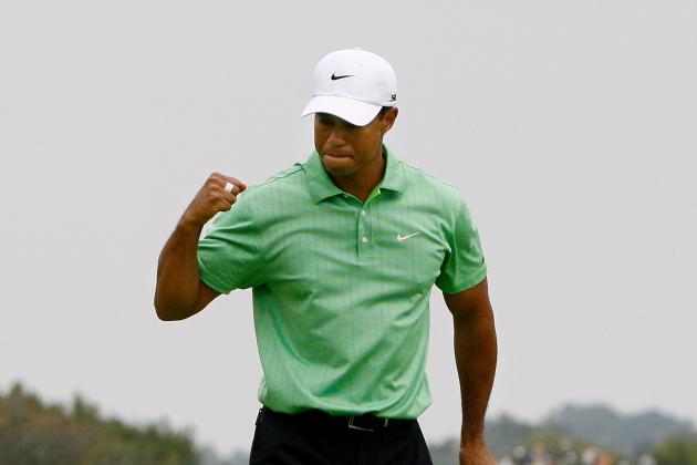 Tiger Woods Is Fist-Pumping at Doral