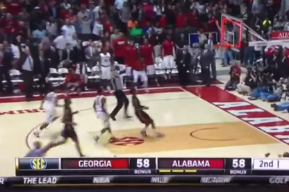 VIDEO: Trevor Releford's Halfcourt Buzzer-Beater Saves Alabama