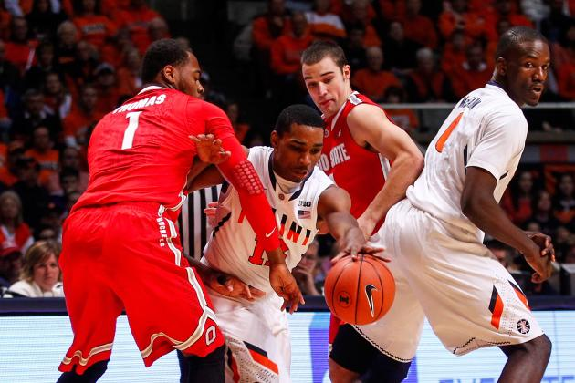 No. 14 Ohio St. Locks Up 2 Seed in B1G Tournament with 68-55 Win vs. Illinois