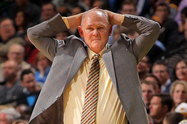 George Karl Shoves Own Player out of the Way in Epic on-Court Meltdown