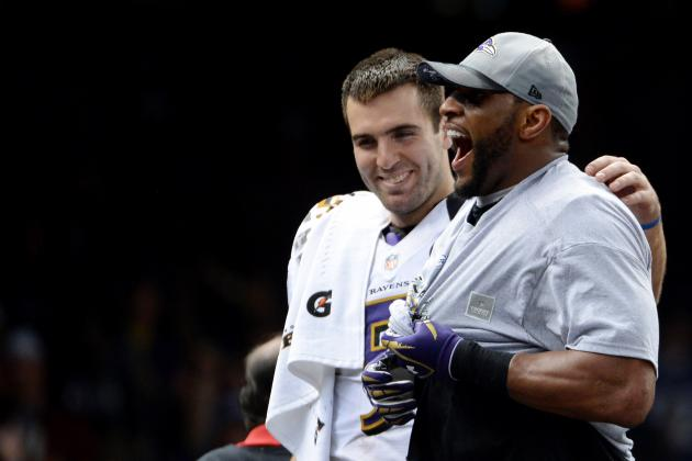 Joe Flacco: Ray Lewis' Ravens Speeches Were Funny