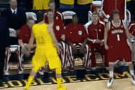 Nik Stauskas Makes 3-Pointer, Talks Trash to the Indiana Bench