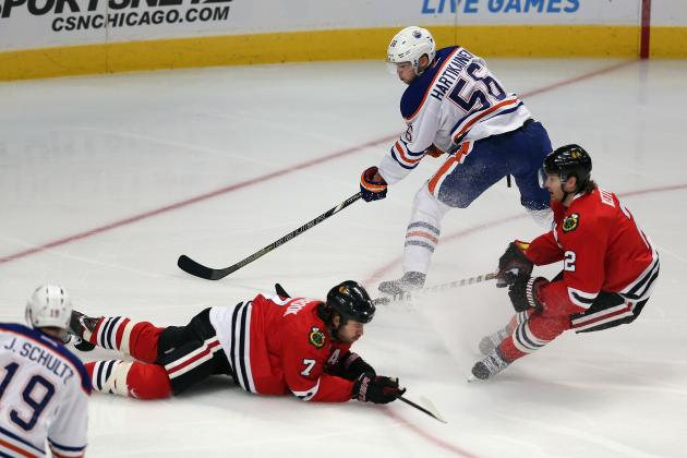 Oilers Hold off Blackhawks in Wild 6-5 Win