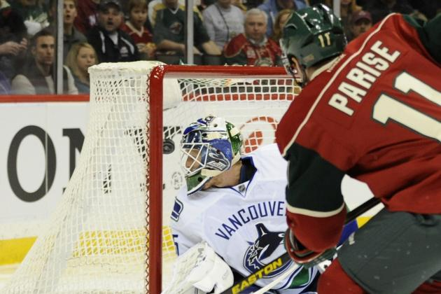 Parise Scores Twice as Wild Defeat Canucks