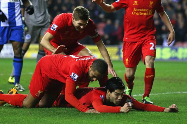Luis Suarez -- First 50 Goals for Liverpool -- 2011-2013
