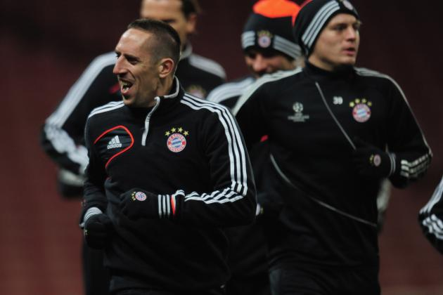 Bayern Munich's Franck Ribery to Miss Champions League Match Against Arsenal