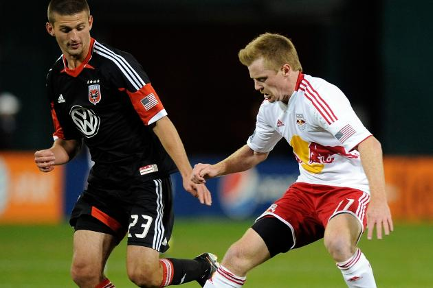 New York Red Bulls' Dax McCarty Has a Go on Encroachment Calls