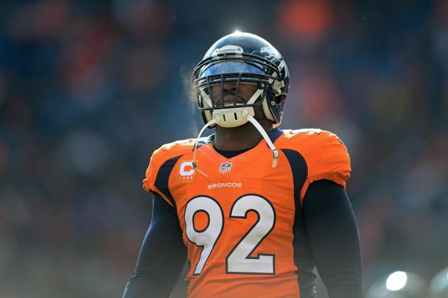 Report: Denver Broncos Defensive End Elvis Dumervil Requests to Be Released