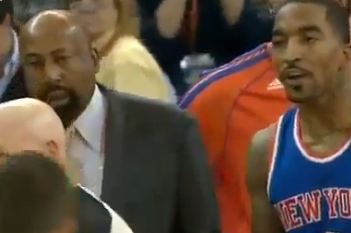 Knicks J.R. Smith Ejected for Foul on Harrison Barnes (VIDEO)