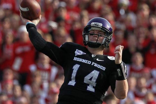 Andy Dalton Throws Passes at TCU Pro Day
