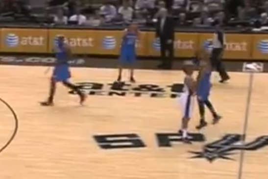 Russell Westbrook Tried to Draw Foul on Halfcourt Shot Mid-Game (VIDEO)