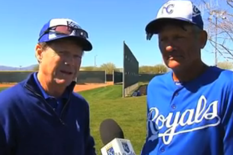 Watch Tom Watson Hang Around Kansas City Royals Spring Training