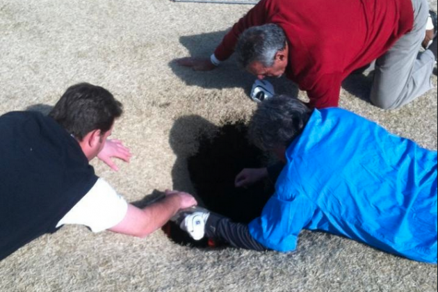 Fairway Sinkhole Swallows Golfer at Waterloo Course