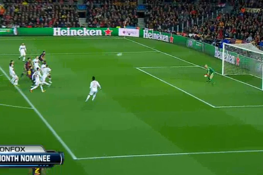 Messi Gives Barcelona Early 1-0 Lead Against Milan