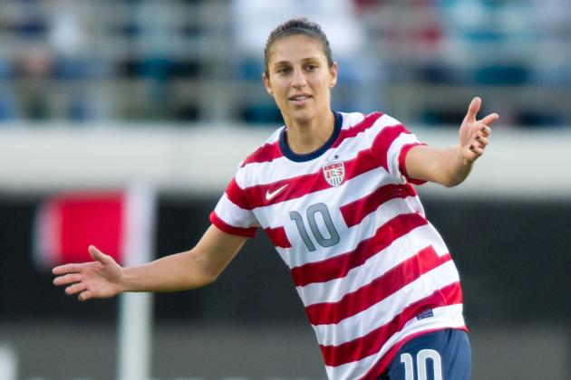 U.S. Midfielder Carli Lloyd Breaks Bone in Shoulder