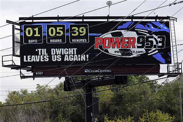 Radio Station Buys Billboard Counting Down Minutes Left in Howard's Return