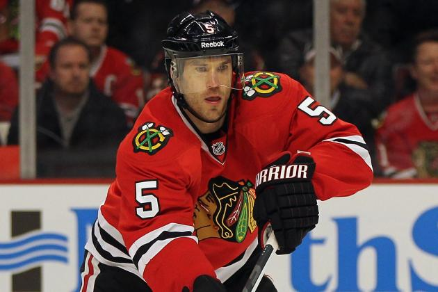 Chicago Sends Montador to AHL, Recalls Hayes
