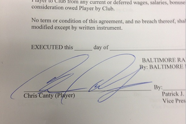 Instagram: Chris Canty Annouces Signing with Ravens