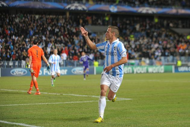 Malaga 2-0 Porto: Malaga into Champions League Last Eight