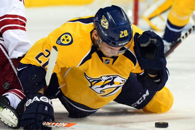 Gaustad Leaves vs. Stars Due to Upper-Body Injury