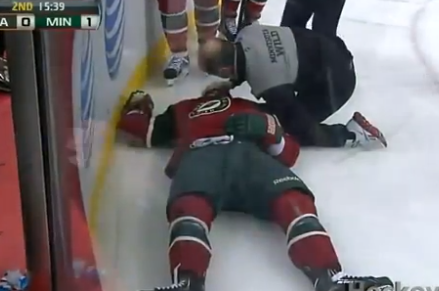 Corey Perry Ejected for Head Shot on Jason Zucker