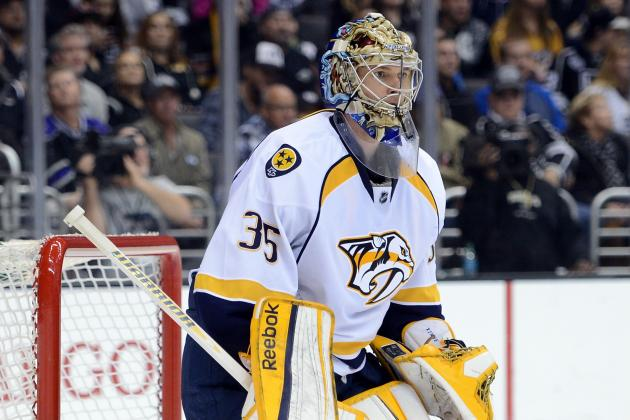 Predators' Rinne Picks Up NHL-Best 5th Shutout