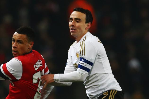 Swansea Optimistic over Injury Victims Britton and Moore Ahead of Arsenal