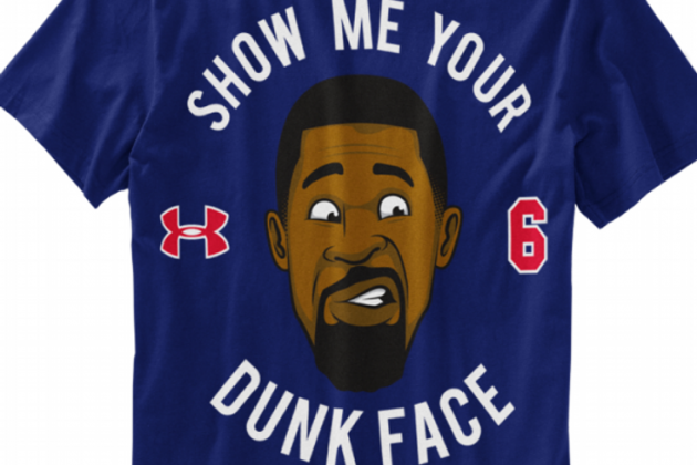 DeAndre Jordan's Monster Dunk Reaction Becomes Hilarious Under Armour T-Shirt