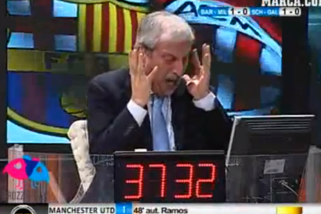 Watch an Italian TV Presenter Lose His Mind over Milan's Loss to Barcelona