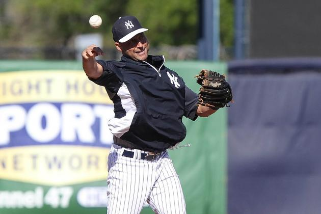 Derek Jeter Plays 4 Innings at SS in First Field Action Since Ankle Surgery