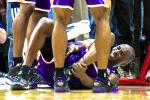 Kobe Out Indefinitely with Ankle Sprain
