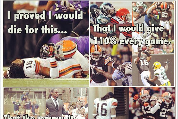 Josh Cribbs Bids Heartwarming Farwell to Browns Fans