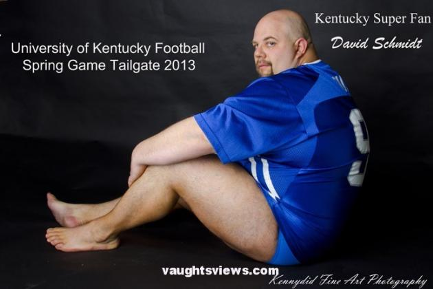 UK Football Fan Dave Schmidt Showing All He Can to Support Spring Game