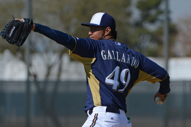 Gallardo Strong in Return to Brewers; D-Backs Win