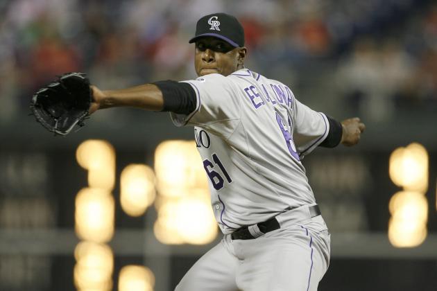 Rockies Pitcher Edgmer Escalona Hit in Face During Spring Drills