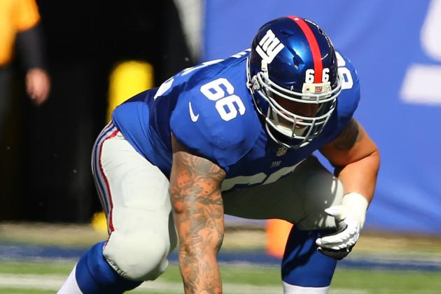 Report: OL David Diehl Agrees to Restructure Deal with Giants