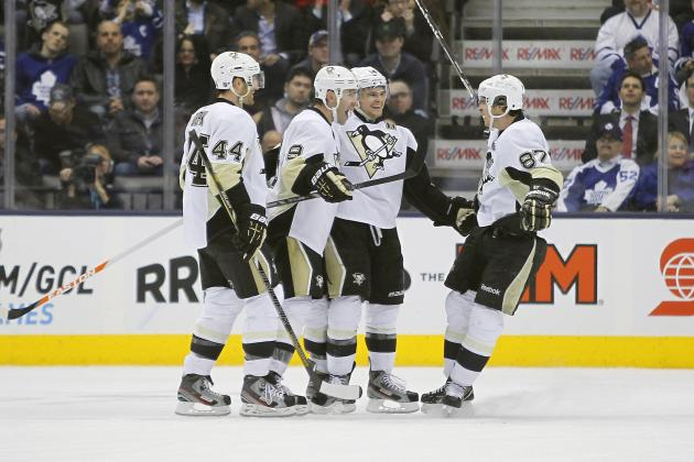 DuPuis Scores Twice as Penguins Rally Past Leafs