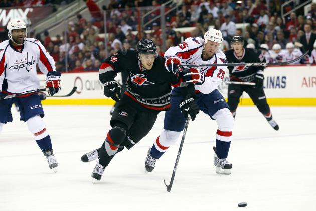 Ribeiro's Late Goal Lifts Capitals over Hurricanes
