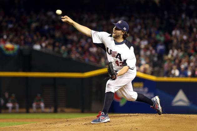 Grading Team USA's R.A. Dickey at the 2013 World Baseball Classic