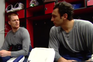 Watch Roberto Luongo, Cory Schneider Hilariously Goof on Their Squirmy Rivalry