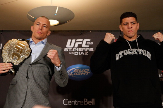 UFC 158 Weigh-in Results: Georges St-Pierre vs. Nick Diaz Fight Card