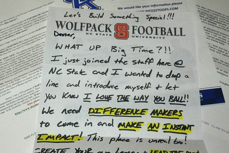 NC State Sends Out Too-Cool Recruiting Letter