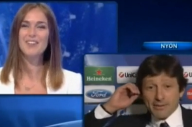 Awkward! PSG Director Leonardo Proposes to His Girlfriend Live on TV