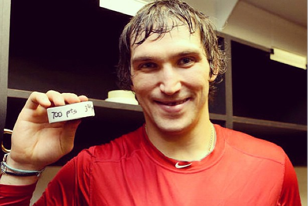 Instagram: Ovie Shows off Puck After Scoring 700th Point
