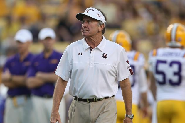Spurrier, Gamecocks Taking Aim at Title