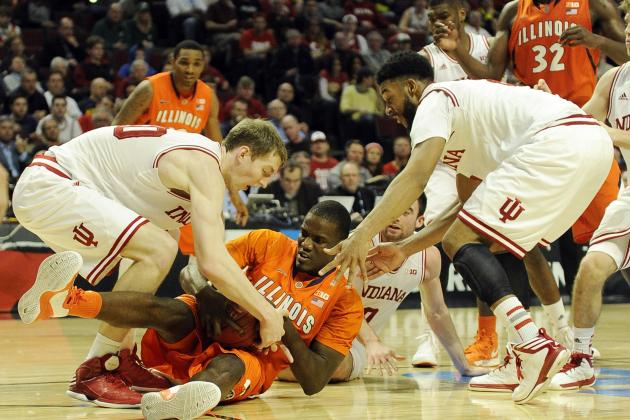 No. 3 Indiana Rolls by Illini in Big Ten Quarters