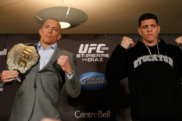 UFC 158: Latest Odds and Predictions for Tonight's Huge Card