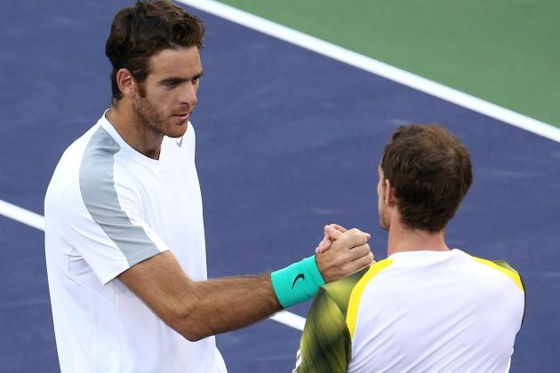 Juan Martin Del Potro Fights Back to Send Andy Murray out of Indian Wells