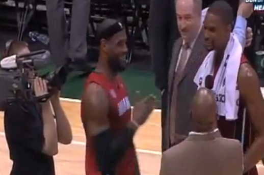 LeBron Videobombs Bosh After Win